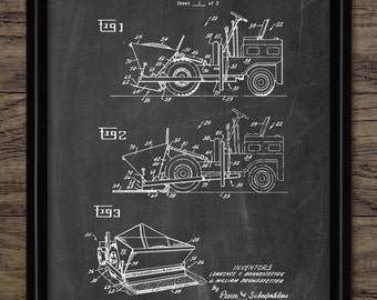 Asphalt Paver Patent Print - 1970 Asphalt Paver Vehicle Design - Tarmac Laying Construction Art - Single Print #2146 - INSTANT DOWNLOAD