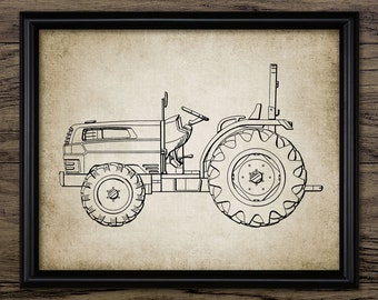 Vintage Tractor Print - Tractor Design - Farming Poster - Ranch Decor - Farming - Single Print #1192 - INSTANT DOWNLOAD