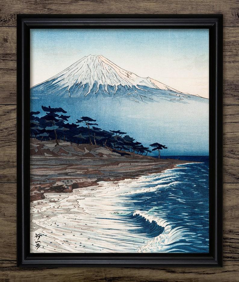 d80b51c1019f Vintage mount fuji art print japanese woodblock art etsy jpg 794x934 Vintage  fuji arts japanese prints