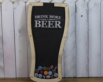 Bottle Cap Holder/Bottle Cap Display/Pilsner Shape/Pint Glass Shape/Beer Decor/Bar Decor/Father's Day/Man Gift/ Collector/Cap Display