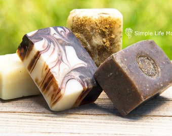 1lb NATURAL HERBAL SOAP, 1 pound your choice- organic, handmade cold processed soap, and essential oils