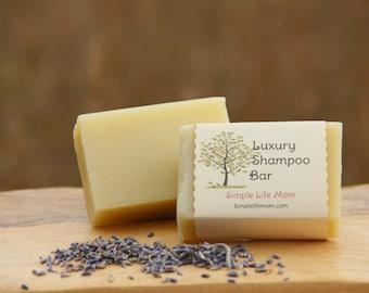 LUXURY SHAMPOO BAR - herbal, vegan, 100% natural, handmade cold processed, shampoo bar with lavender essential oil