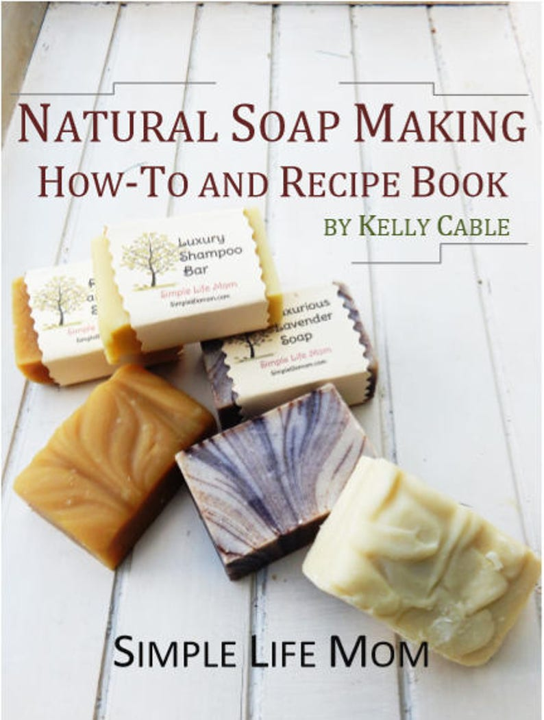 NATURAL SOAP MAKING How-to and Recipe EBook all natural cold image 1