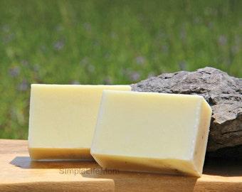 CALMING LEMONBALM SOAP - 100% natural handmade cold processed soap, lemonbalm (melissa) and frankincense essential oils