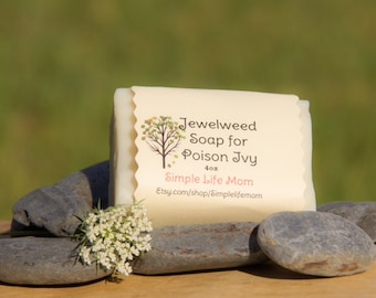 POISON IVY SOAP with Jewelweed - 100% Handmade, natural remedy for itchy skin, essential oils, organic, cold processed soap