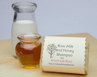 MILK HONEY SHAMPOO Bar - 100% natural, Handmade, cold processed, natural shampoo with raw milk and citrus essential oils