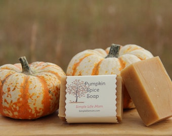 PUMPKIN SPICE SOAP - Holiday Gift, Cinnamon, Clove, 100 %natural, organic, Handmade Herbal soap with essential oils