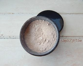 NATURAL FINISHING POWDER - Loose, organic, clay mineral translucent foundation, natural makeup, concealer