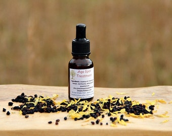 AGE SPOT SKIN Lightening Serum - 100% natural with essential oils, dark spot treatment, organic