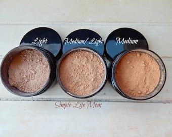NATURAL FOUNDATION POWDER - Loose, organic, clay mineral foundation, natural makeup, concealer