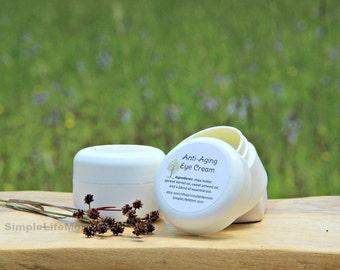 ANTI AGING EYE Cream - Natural Organic Night Cream, Skin Care for aging skin, Essential Oils, Facial Overnight Cream
