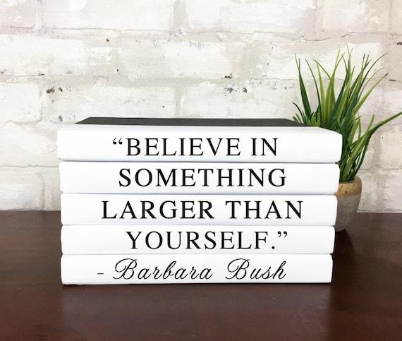 Remembering Barbara Bush Quote Book Set Barbara Bush Book 5 Etsy