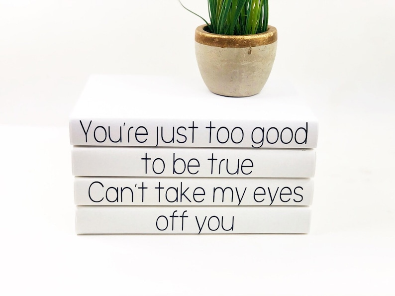 Youre Just Too Good To Be True Lyrics 4 Book Set Etsy