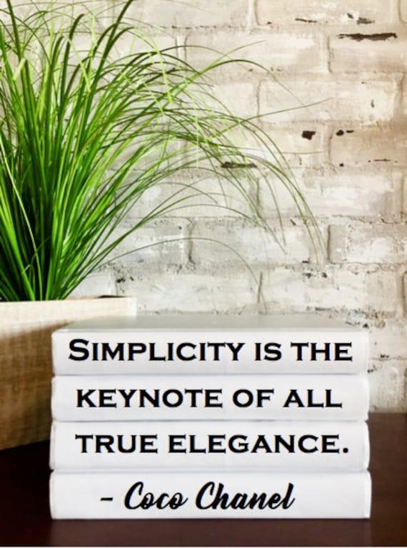 Eenvoud Is De Hoofdgedachte Van Alle Ware Elegantie Coco Etsy