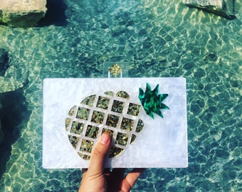 Pineapple Acrylic evening party Clutch