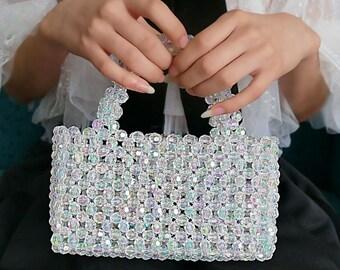 Crystal Beaded Handbag custom bead bag