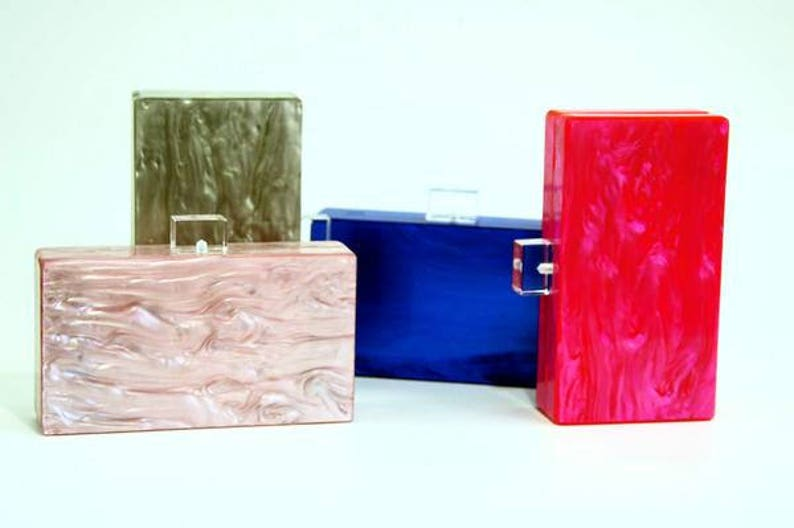 Mother of Pearl Acrylic Box Clutch  830c44a26cd5