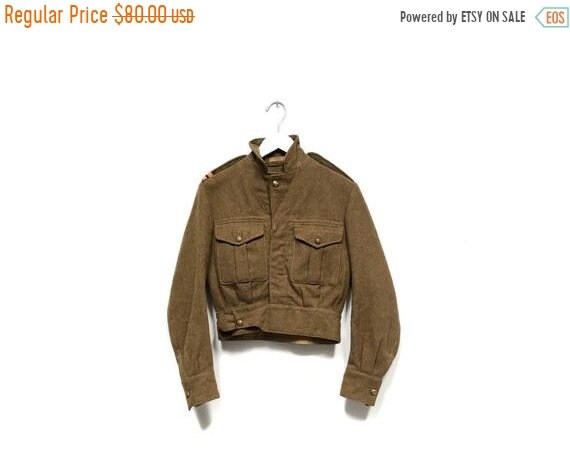 HELLO 2021 SALE Vintage 50s Green Wool Army Jacket