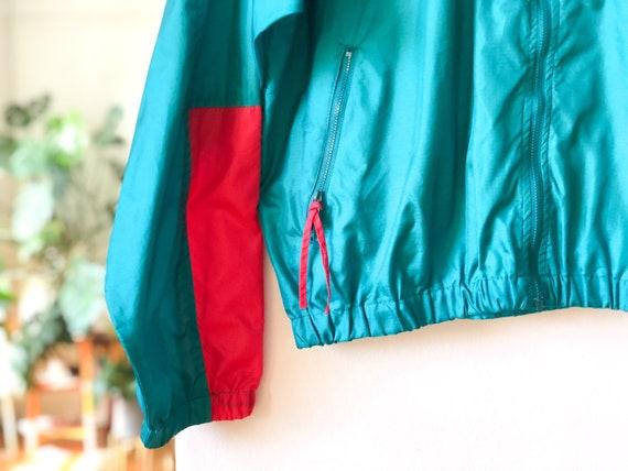 Vintage 90s Green Blue Red Color Blocked Windbrea… - image 7