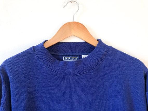 Vintage 90s Royal Blue Pullover Oversized Sweatshi