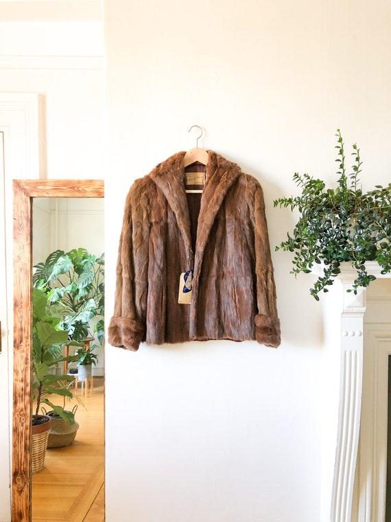 Vintage 50s Fur Coat