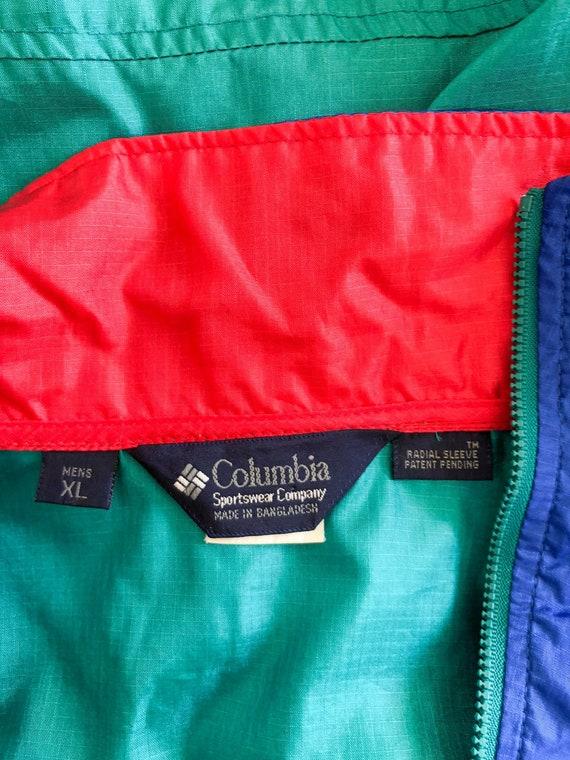 Vintage 90s Green Blue Red Color Blocked Windbrea… - image 8