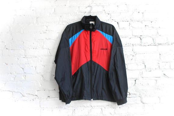 90s Adidas Windbreaker Track Jacket Break Dance Hip Hop Warm Up Jacket Retro Adidas 90s Hip Hop Vaporwave 80s Health Goth XL