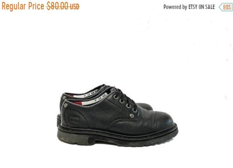 32cd4bf6cf96db Vintage 90s Tommy Hilfiger Oxford Lace Up Shoes   Black