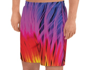 1f10530d8f LGBTQ Gay Rainbow Boxer Shorts Rainbow Flame Pride Men's Athletic Long  Shorts