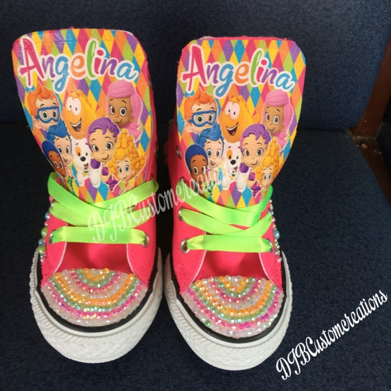 1b4f91799daa Bubble Guppies Converse bubble guppies Chucks jewels