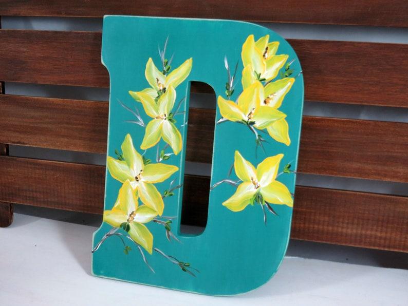 Letter Cutout  Craft Letter  Chalk Paint  Letter D  image 0