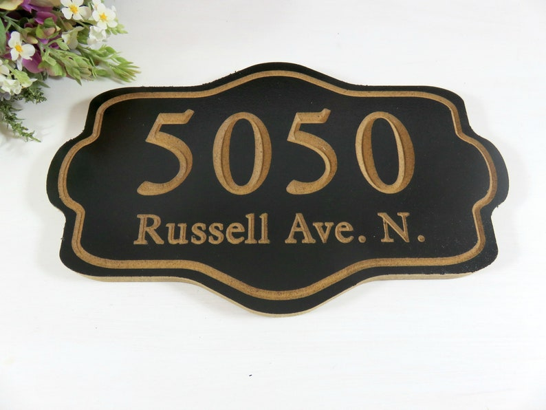 Address Sign Custom  Outdoor Address Sign  Personalized image 0