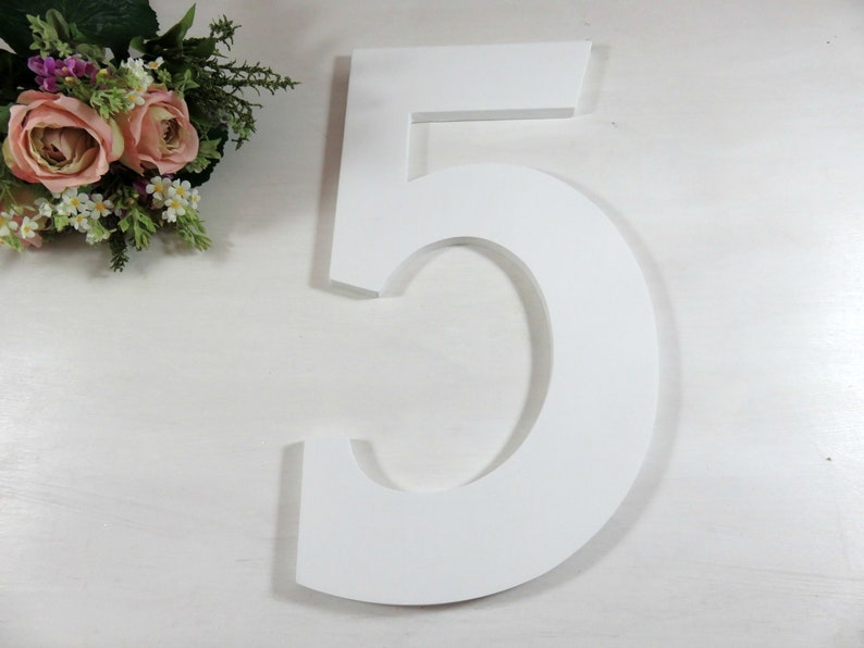 Wooden Birthday Numbers  Big Number  Birthday Photo Props  image 0