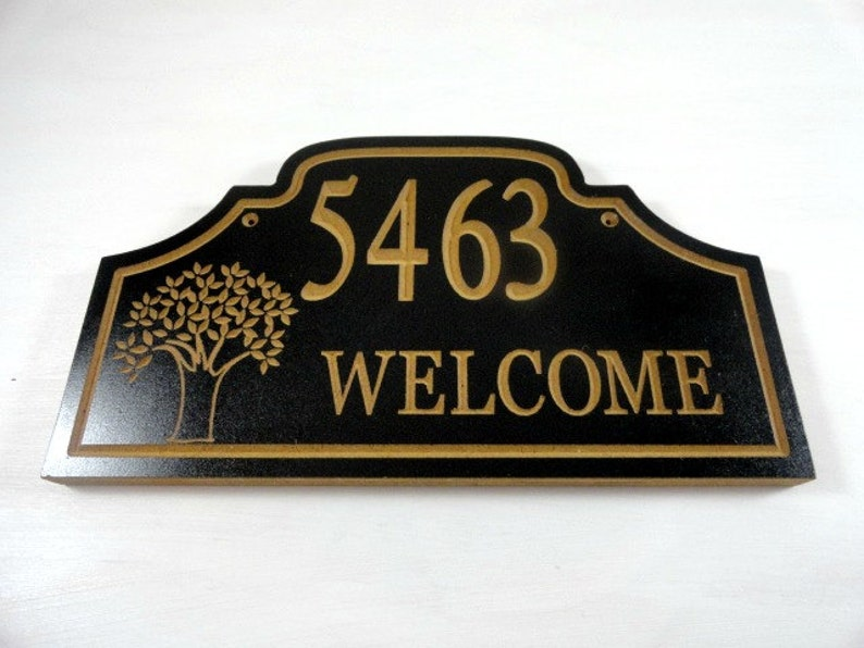 House Number Sign  Custom Address  Wood Address Sign  image 0