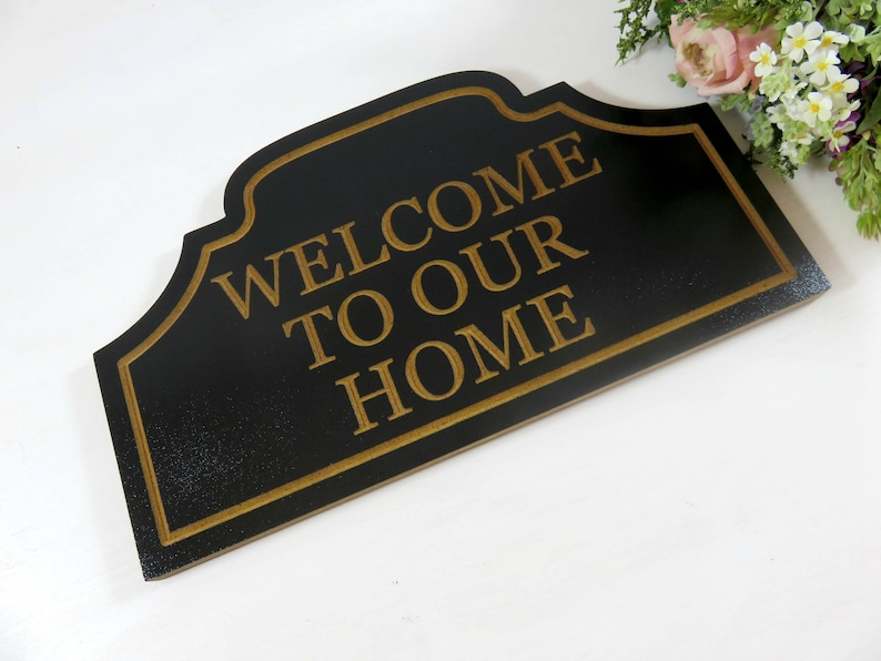 Welcome to Our Home Sign  Welcome Sign Wood  Outdoor Welcome image 0