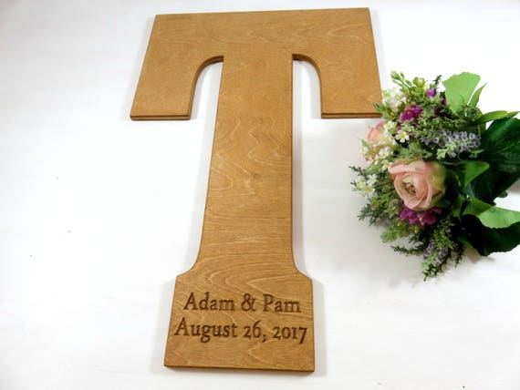 engraved wedding letters guest book ideas large letters etsy