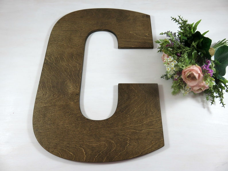 Large Wedding Letters Wedding Guest Letters Wedding Name image 0