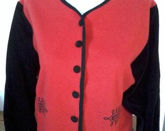 original small red and black short jacket
