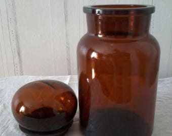 1970s glass airtight jar