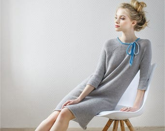 Women Tunic Dress Warm, Women Warm Dress, Wool Dress, Women Dresses Wool, Sweater Dress, Wool Dress Long, Oversized Dress Long, Loose Dress