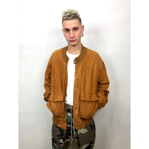 BURBERRY 80s suede bomber jacket