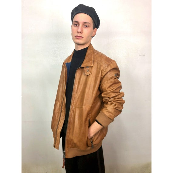 NAPAPIJRI leather bomber