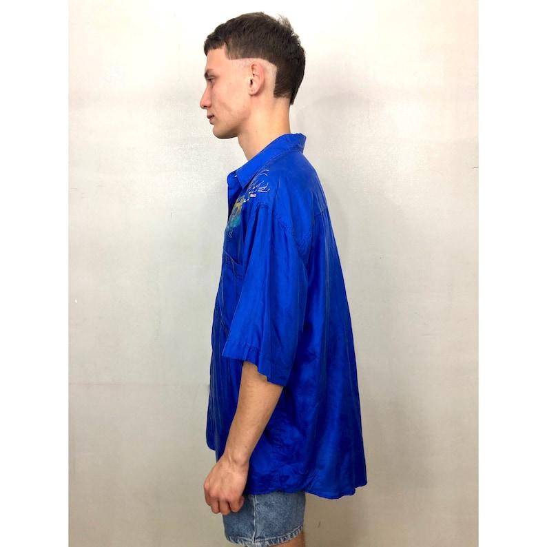 HAND PAINTED silk shirt