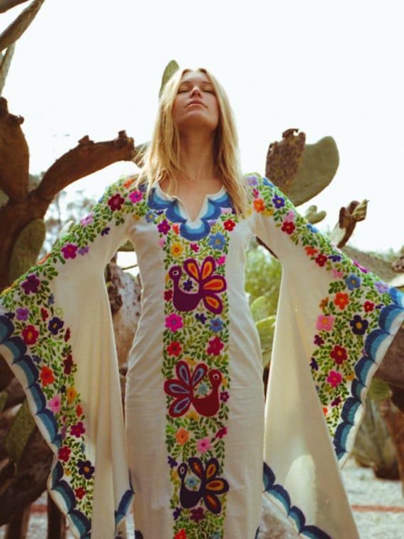 Mexican Wedding Dress Boho wedding gown Maxi Caftan Dress | Etsy