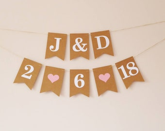 Save the date banner - Wedding date banner - Engagement date banner - Wedding photo prop - Personalised banner