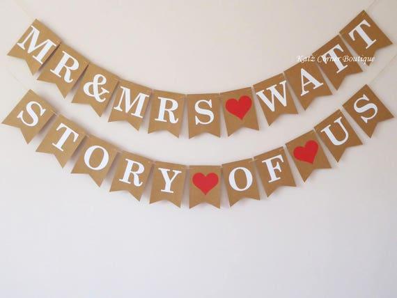 Personalised Wedding Decorations Mr And Mrs Wedding Bunting Etsy