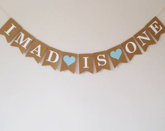 Children's party personalised first birthday bunting 1st birthday decoration custom name banner boy's decoration banner