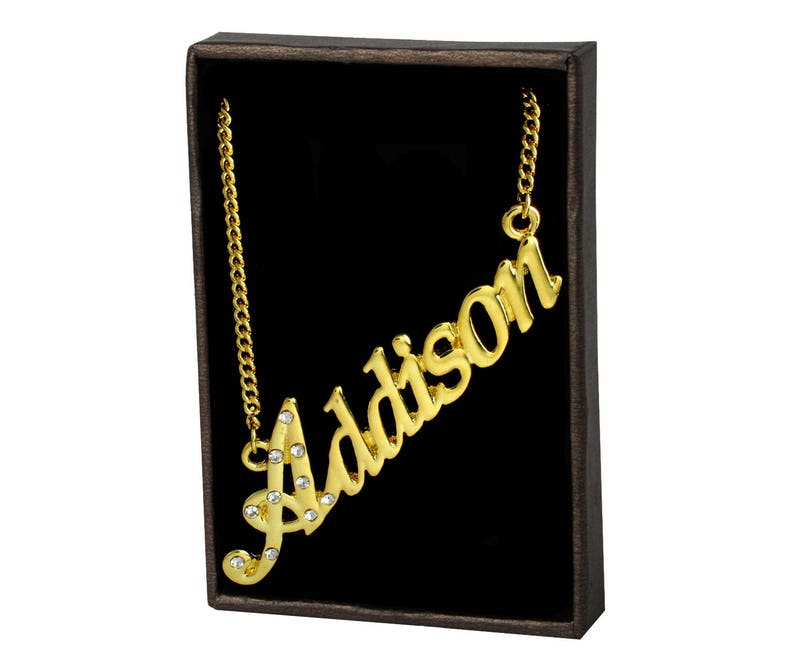 Available In Yellow Gold /& White Gold Addison Jewelry Gift Set 18K Gold Plated Necklace and Bracelet Free Gift Bag and Box Included