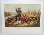 Arthur Fitzwilliam Tait (1819-1905) Duck Shooting, Some of the Right Sort Currier and Ives Dogs Boat