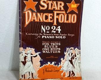 SHEET MUSIC Star Dance Folio No. 24, Season's Most Popular Songs For Piano Solo
